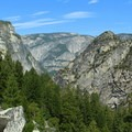 Looking back toward Yosemite Valley.- Half Dome Hike via John Muir Trail