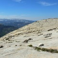 Half Dome summit (8,836') facing south.- Half Dome Hike via John Muir Trail