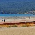 Looking toward North Lake Tahoe from Kings Beach.- Kings Beach