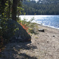 The south shore of Hell Roaring Lake holds several lakeside campsites.- Hell Roaring Lake