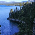 Views south along the Rubicon Trail.- Rubicon Trail
