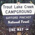 Trout Lake Creek Campground.- Trout Lake Creek Campground