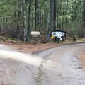 Trout Lake Creek Campground entrance.- Trout Lake Creek Campground