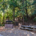 Upper Bench Youth Group barbecue pit.- Uvas Canyon County Park Campground