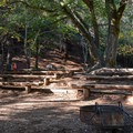 Amphitheater at the Upper Bench Youth Area.- Uvas Canyon County Park Campground