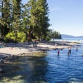 The beaches of Sugar Pine Point State Park are located across Highway 89.- General Creek Campground