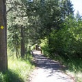 The Rod Beaudry Trail connects the park's day use area with General Creek Campground.- General Creek Campground