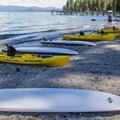 Kayak and SUP rentals are available during summer months out of the North Boathouse.- Sugar Pine Point State Park