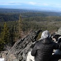 The view of the valley from Flag Point Fire Lookout.- Flag Point Fire Lookout