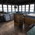 Inside the lookout you'll find a bed for two, a stove, pots, and a wood stove.- Flag Point Fire Lookout