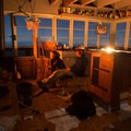 The wood stove takes a bit to warm the lookout, but it does a great job if you keep it going.- Flag Point Fire Lookout