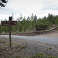Take a left on Spur Road 200 and follow this to the lookout.- Flag Point Fire Lookout