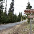 As you follow the signs to Flag Point, the roads are clearly marked.- Flag Point Fire Lookout
