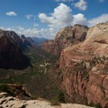 Iconic view of Zion Canyon.- Angels Landing Hike