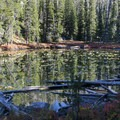 The trail passes several small ponds and lakes before reaching Imogene Lake proper.- Imogene Lake + Divide
