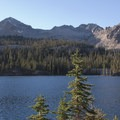 Looking across Imogene Lake from the east shore toward Mount Cramer.- Imogene Lake + Divide