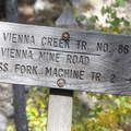Trailsign at the bottom of Vienna Creek.- Johnson Creek to North Fork of the Ross Fork