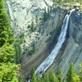 Nevada Falls (594').- Half Dome Hike via John Muir Trail
