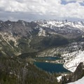 Hansen Lakes with the burned headwaters of Stanley Lake Creek in the background.- Stanley Lake Creek to Hansen Lakes