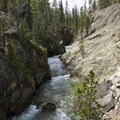 Stop for a quick view at Lady Face Falls. This is the gorge just upstream of the falls.- Stanley Lake Creek to Hansen Lakes