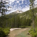 A view of Stanley Lake Creek shortly after the first crossing.- Stanley Lake Creek to Hansen Lakes