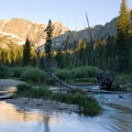 Iron Creek at the Alpine Way/Sawtooth Lake junction.- Sawtooth Mountains + Sawtooth Wilderness