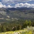 Looking down onto the community of Atlanta from Peak 7,436.- Sawtooth Mountains + Sawtooth Wilderness
