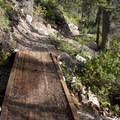 Bridge along the west shore of Redfish Lake.- Redfish Lake Loop, Grand Mogul Trail to Bench Lakes