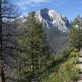 From the Redfish Inlet, the trail climbs above the lake and provides stunning views before it intersects the Bench Lakes Trail and northern moraine ridge.- Redfish Lake Loop, Grand Mogul Trail to Bench Lakes