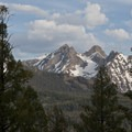A veiw of Thompson Peak, the highest in the range.- Redfish Lake Loop, Grand Mogul Trail to Bench Lakes
