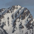 West face of Williams Peak with a spring cover of snow.- Redfish Lake Loop, Grand Mogul Trail to Bench Lakes