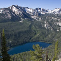 Looking onto Hell Roaring Lake from a spur ridge off of the Alpine Way Trail.- Huckleberry Creek