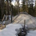 Fishook yurt, exterior.- Fishhook Yurt