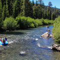 Mellow rapids break up the flat stretches.- Truckee River Float