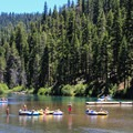 Shallow bars afford an opportunity to get out and stretch the legs.- Truckee River Float