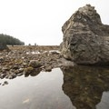 Rocky shoreline between Cape Alava and Sand Point.- Ozette Triangle Loop Trail