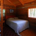 Cabin interior at The Lost Resort.- The Lost Resort + Campground