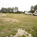 Open campsites at Hobuck Beach Resort + Campground.- Hobuck Beach Resort + Campground
