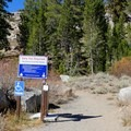 The trailhead for Red Lake Peak Loop.- Red Lake Peak Loop