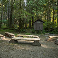 Klahowya Campground amphitheater.- Klahowya Campground