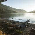 Lake Crescent from Lake Crescent Lodge.- Lake Crescent Lodge