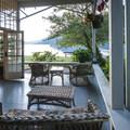 Lake Crescent Lodge porch.- Lake Crescent Lodge