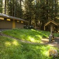 Loop B restroom facilities at Sol Duc Campground.- Sol Duc Campground