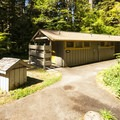 Loop A restroom facilities at Sol Duc Campground.- Sol Duc Campground