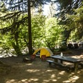 Typical campsite at Loop A, Sol Duc Campground.- Sol Duc Campground