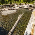 Sol Duc River swimming hole at Sol Duc Campground.- Sol Duc Campground