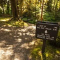 Direct access to Sol Duc Falls via the Sol Duc River Trail from Sol Duc Campground.- Sol Duc Campground