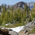 The trail can be difficult to find.- Woods Lake Loop via Winnemucca Lake
