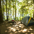 Typical campsite at Fairholme Campground.- Lake Crescent, Fairholme Campground
