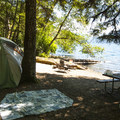 One of several excellent shoreline campsites at Fairholme Campground.- Lake Crescent, Fairholme Campground